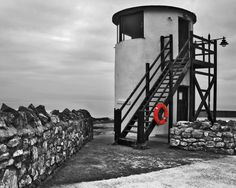 old coastguard round tower black and white | Flickr - Photo Sharing!