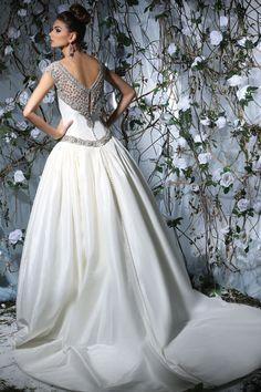 Victor Harper - Designer Bridal Gown - Style VH176 (Back)