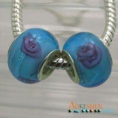Free Shipping 10 pcs Sky Blue Lampwork Murano Glass by EOZYBEADS #eozy