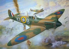 Flight Lieutenant Al Deere of 54 Squadron. July after destroying a he… Ww2 Aircraft, Fighter Aircraft, Military Aircraft, Fighter Jets, Spitfire Tattoo, The Spitfires, Aircraft Painting, Airplane Art, Cross Art