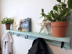 Rustic Shelf,Distressed Shelf,Ocean Decor,Cottage Chic Decor,Floating Shelf,Beach Theme ,Plant Shelf,Photo Shelf,Coat Rack,display shelf by DoveMeadowDesigns on Etsy