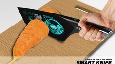 STUFF: Ingredient examining blades. The Smart Knife analyzes and calculates the freshness of food.