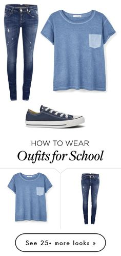 """A normal school day"" by tylerdominie on Polyvore featuring ONLY, Converse and MANGO"