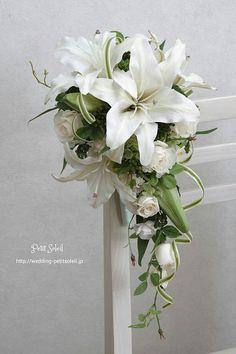 キャスケードブーケ カサブランカのブーケ Lily Bridal Bouquet