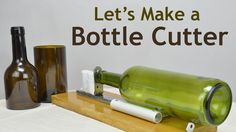 """In this video, I made a simple, yet effective glass bottle cutter.  All you need is:  ✓A piece of wood (wooden chopping board?) ✓Plastic pipe ✓Glass cutter ✓A piece of steel (I used a piece from drawer runners) ✓Steel ruler ✓""""L"""" shape bracket ✓Neodymium magnets ✓Furniture sliders or a piece of felt ✓Epoxy glue"""