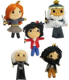 Harry Potter Set of 5 Voodoo String Doll Keychain NaLuck. $14.95