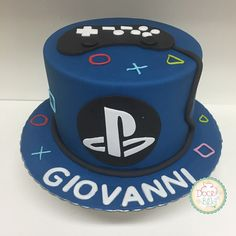 Bolo PlayStation 4 Best Picture For Birthday Cake boys For Your Taste You are looking for something, and it is going to tell you exactly what you are looking for, and you didn't find that picture. 14th Birthday Cakes, Birthday Cakes For Teens, Teen Boy Cakes, Cakes For Boys, Ps4 Cake, Playstation Cake, Video Game Cakes, Fondant Cake Designs, Birthday Cake Decorating