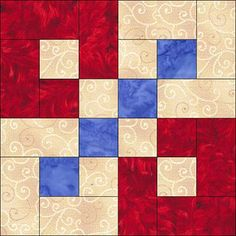this would be a great block to play quilt layout with.