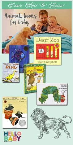 Cuteness abounds in these beloved animal books, which teach appreciation for the natural world. Dear Zoo, Baby Books, Baby List, Animal Books, Very Hungry Caterpillar, Little Ones, Baby Animals, Pink Blue, Good Books