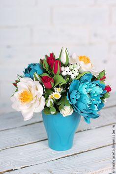 clay flowers by Elena Yudina Handmade.