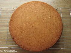 Tätä ohjetta on helppo soveltaa eri kokoisiin täytekakkuihin. Munien lukumäärä määrää kakun koon ja muiden aineiden menekin. Leivinjauheen määrää voit lisätä/vähentää pohjan koon mukaan. Tässä on esimerkkinä 5 munan pohja. Katso myös tumman sokerikakkupohjan ohje. Ainekset: 5 munaa (mielellään huoneenlämpöisiä!) sokeria vehnäjauhoja perunajauhoja 2 tl leivinjauhetta Paistaminen: 175 astetta, alatasolla 40 min Kostutus: 5 munan […]