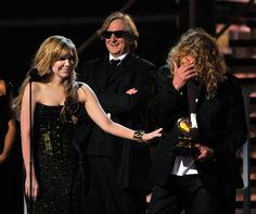 T-Bone Burnett Alison Krauss Phot    Musicians Alison Krauss, T Bone Burnett, and Robert Plant accept the Record of the Year award during the 51st Annual Grammy Awards held at the Staples Center on February 8, 2009 in Los Angeles, California. (Photo by Kevin Winter/Getty Images) * Local Caption * Robert Plant;Alison Krauss;T Bone Burnett - 51st Annual Grammy Awards - Show