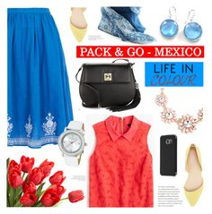 """""""Pack & Go-Mexico"""" by cly88 ❤ liked on Polyvore featuring YMC, Karl Lagerfeld, J.Crew, Ippolita, Charlotte Russe, Samsung, Ted Baker and DESTIN"""