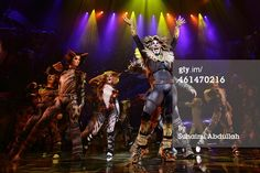 SINGAPORE - JANUARY 13: Performer Earl Gregory (C) plays the character Rum Tum Tugger for the musical 'CATS' during a media preview at the Marina Bay Sands Mastercard Theatre on January 13, 2015 in Singapore. The musical by Andrew Lloyd Webber, holds the record for one of the longest running musical in West End history playing for 21 years and will make a return to Singapore from January 9 to February 1, 2015.