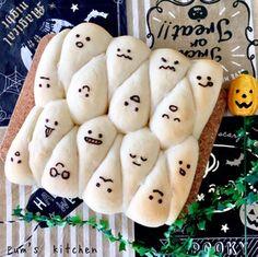 ハロウィンおばけちぎりパン