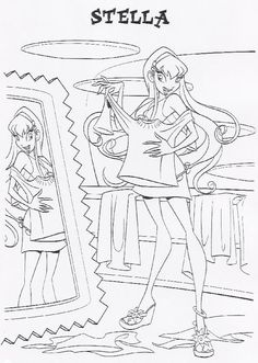 Coloriage Winx ClubColoring PagesColoring BooksChildhood