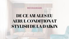 De ce am ales eu aerul condiționat Stylish de la Daikin? Daikin Ac, Stylish, Instagram, Home Decor, Decoration Home, Room Decor, Home Interior Design, Home Decoration, Interior Design