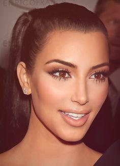 Perfect makeup a'la Kim Kardashian