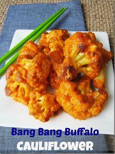 Bang Bang Buffalo Cauliflower from Carrots 'n' Cake http://carrotsncake.com/2014/03/bang-bang-buffalo-cauliflower.html