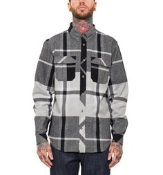 Yarn dye plaid cotton flannel button up // REBEL8