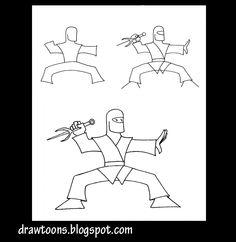 How to Draw Cartoons: How to draw a cartoon ninja