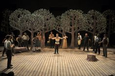 As You Like It. Illinois Shakespeare Festival. Love the trees