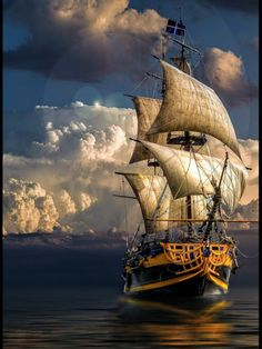 a delphinian navy ship. Pirate Boats, Pirate Art, Pirate Ships, Bateau Yacht, Old Sailing Ships, Ship Drawing, Ship Paintings, Boat Art, Wooden Ship