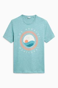 Buy Aqua Los Angeles T-Shirt from the Next UK online shop