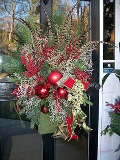 Elegant Christmas Front Door.