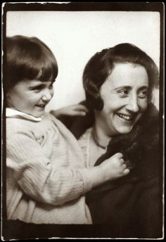 Anne Frank, with her mother, Edith, circa 1932-33