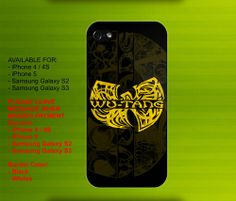 Wu Tang Logo Yellow case for iPhone 4/4S iPhone 5 Galaxy S2/S3 #iPhonecase #iPhoneCover #3DiPhonecase #3Dcase #S4 #s5 #S5case