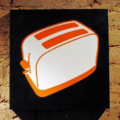 Nelly Duff • gallery & shop • the toaster • collection - orange and white on black