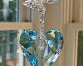 Rosalie 9 Pink Swarovski Crystal Heart por HeartstringsByMorgan