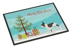 French Bulldog Merry Christmas Tree Indoor or Outdoor Mat 18x27 BB2959MAT