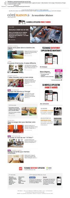 Newsletter © Côté Maison