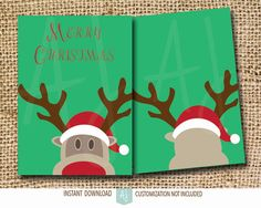 Printable cards for Christmas. Click through for matching games, cards, invites, and more. Or check our our 1000+ designs for holidays, weddings, birthdays, and more.  Designs for all of life's journeys! Only at Aesthetic Journeys