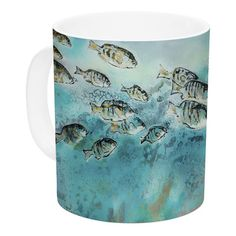 East Urban Home Surf Perch by Josh Serafin 11 oz. Ceramic Coffee Mug