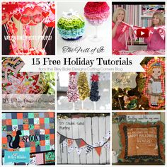 15 FREE Holiday Tutorials: Riley Blake Designs -- Cutting Corners: Cutting Corners 2014 in Review!