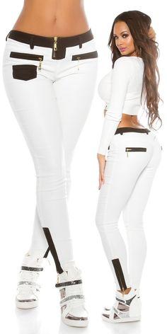 Dámské legínové kalhoty bílé