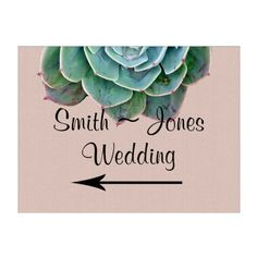Shop Blush Succulent Wedding Direction Sign created by NoteableExpressions. Winter Wedding Favors, Wedding Reception Decorations, Reception Ideas, Wedding Direction Signs, Blooming Succulents, Cactus Wedding, Green Wedding, Wedding Directions, Custom Yard Signs