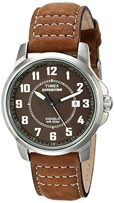 Men's Wrist Watches - Timex Mens T49891 Expedition Metal Field Brown Leather Strap Watch ** More info could be found at the image url.