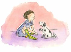 Michelle Henninger: On the Drawing Board: Girl and Her Dog