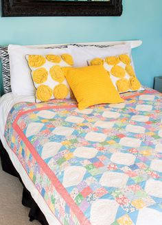This quilt has all the charm of a vintage quilt. Strip piecing and rotary cutting are techniques that are quicker and easier than those used in the 1930s! Learn how to make Kim's Star in our free video tutorial.
