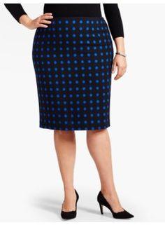 Double-Dot Pencil Skirt