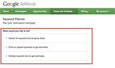 #KeywordPlanner - nowe narzędzie Google AdWords