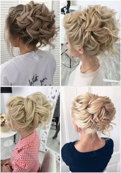 Stunning Wedding Hairstyles from - Forevermorebling Wedding Updo, Wedding Blog, Wedding Hairstyles, Wedding Day, Loose Buns, Bridal Hair Inspiration, Romantic Updo, Vetement Fashion, Latest Hairstyles