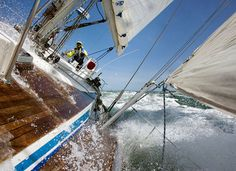 sailing.... love it but this is a little too exciting for me!