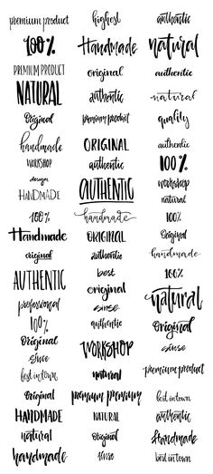 Handdrawn Logo Creator Bundle: Get inspiration for your next project with these…