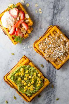 Freezer Sweet Potato Waffles (Extra Crispy)
