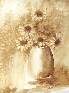 Coffee Artwork, Coffee Painting, Watercolours, Watercolour Painting, Mother Painting, Kaffe, Coffee Uses, Coffee Drawing, Coffee Beans